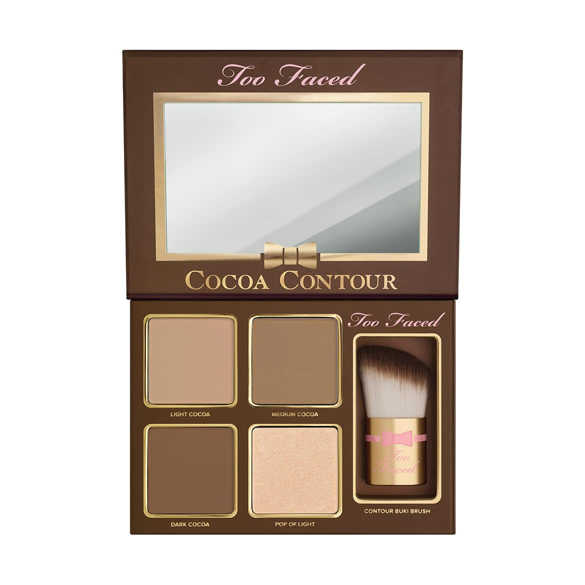 palette cocoa contour too faced ouverte - COCOA CONTOUR, LE KIT CONTOURING GOURMAND DE TOO FACED.