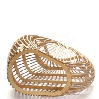 """""""nananu chair"""" fauteuil en bambou de David Trubridge"""