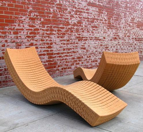 Chaise longue Cortiça de Daniel Michalik
