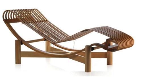 Chaise longue en bambou de Charlotte Perriand