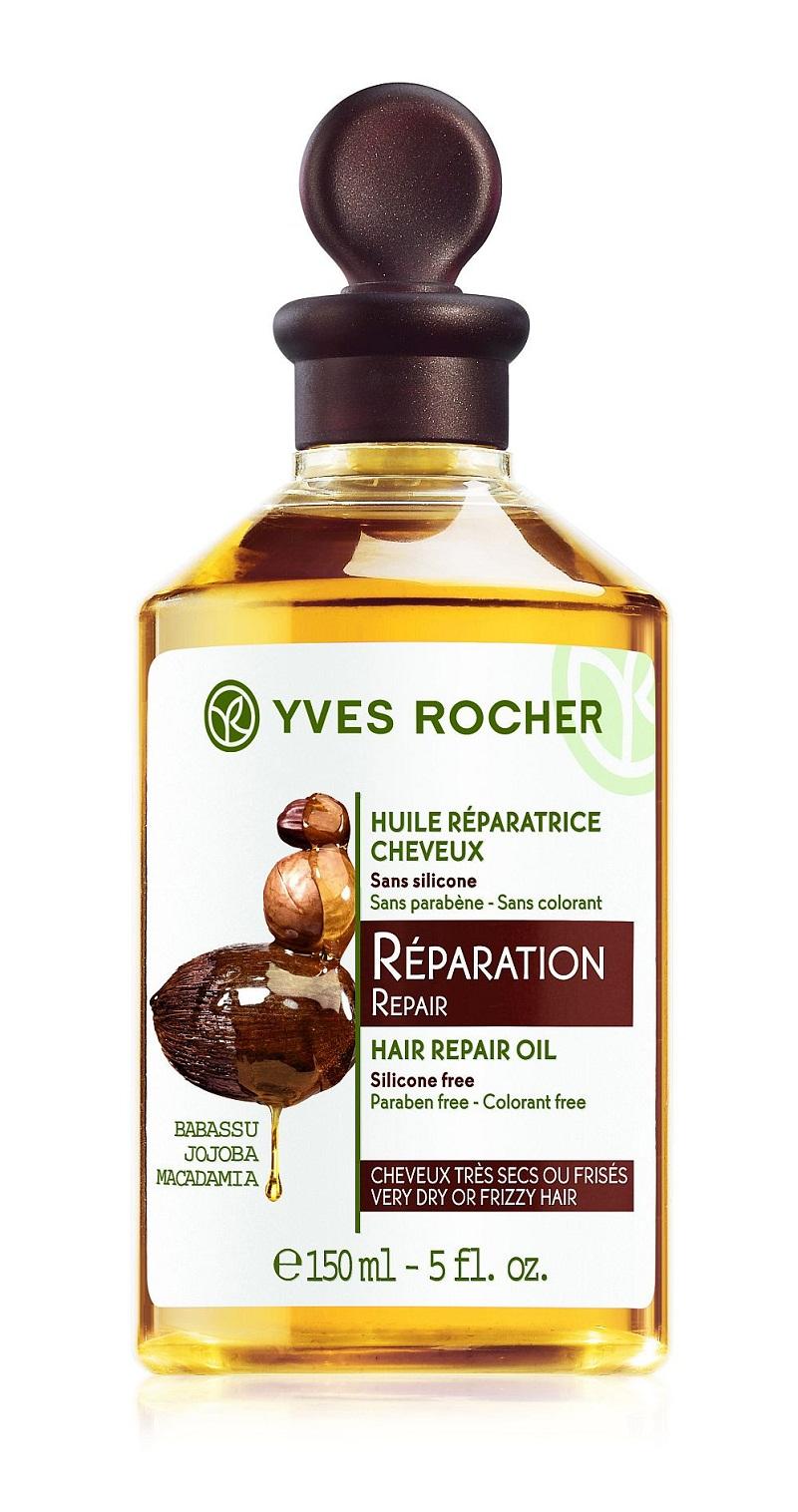 Lhuile réparatrice cheveux de chez Yves Rocher