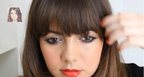 Make-up spécial frange