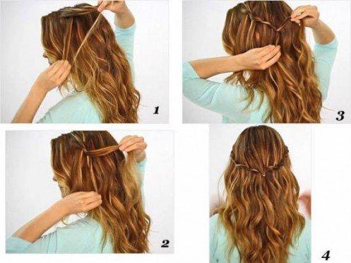 Coiffure super facile cheveux mi longs