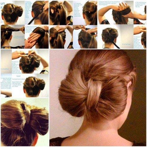 coiffure facile coupe cheveux longs noeud - Coiffure Facile à faire: Du lundi au vendredi pour aller en cours ou au travail