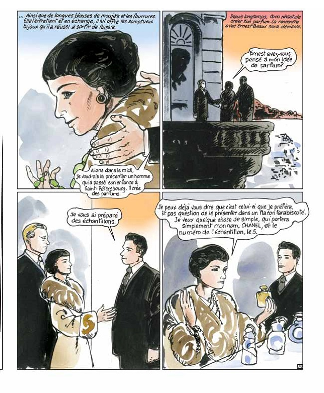 """BD C.Chanel 180X220mm  - Coco CHANEL de Pascale FREY et Bernard CICCOLINI dans la collection """"Grands destins de femmes"""" aux éditions Naïve"""