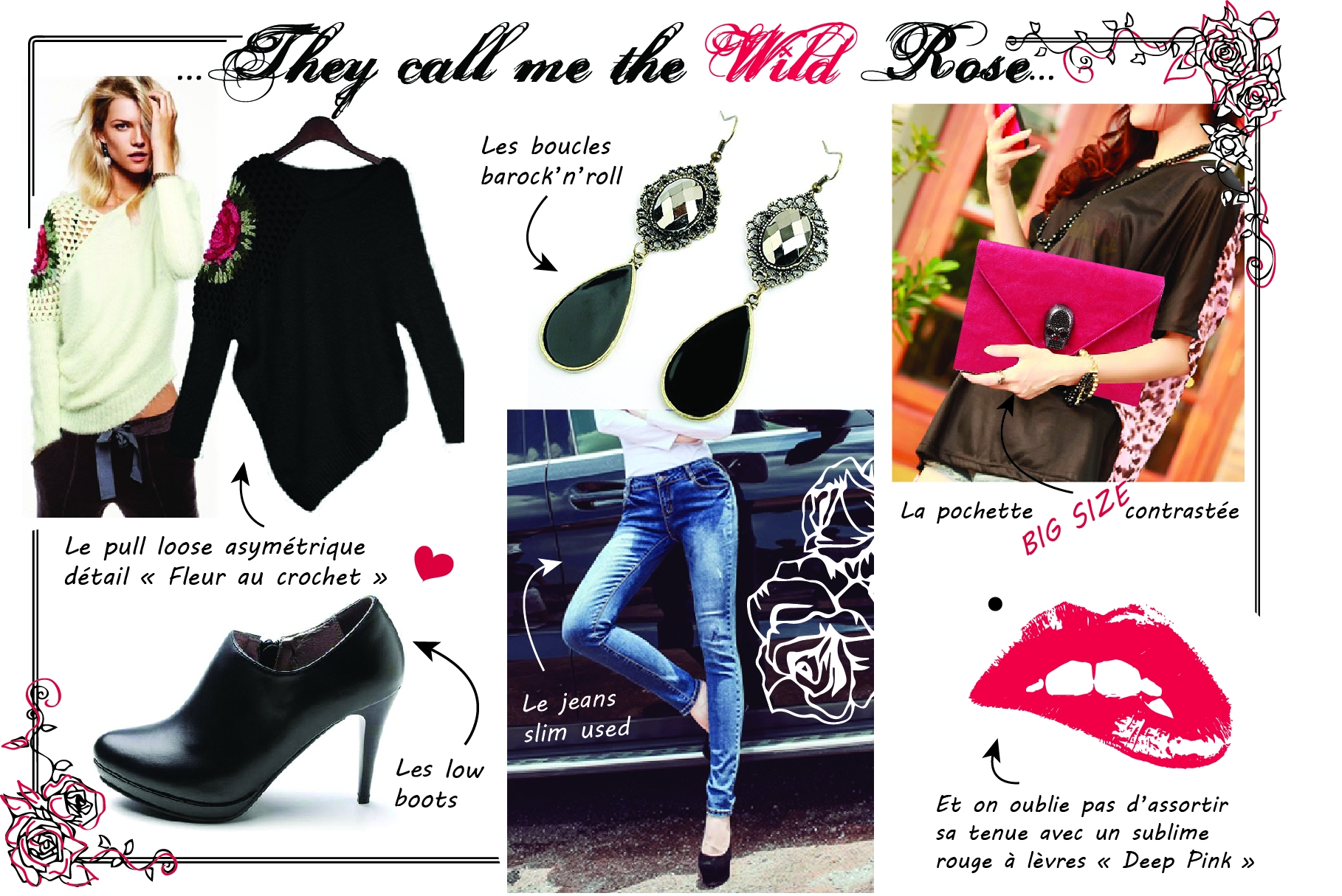 """6480010759bff4900a37293f558453d0 - Le look """"THEY CALL ME THE WILD ROSE"""""""