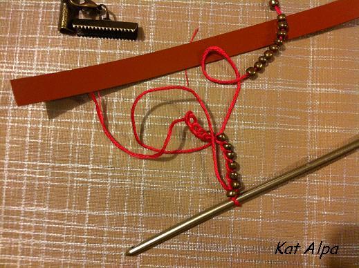 bracelet 2 - Bracelet manchette cloutée et liberty fait main