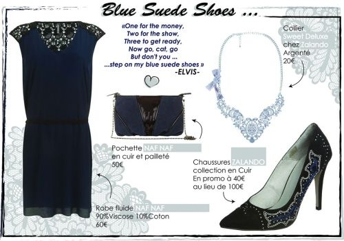 "dd886e4f987341406a37615b626f6f3b - TOTAL LOOK ""BLUE SUEDE SHOES"""