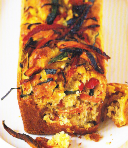 Cake aux légumes grillés - Recette courgette