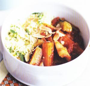 Couscous de légumes & semoule à la menthe