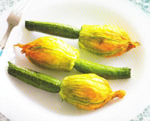 Fleurs de courgette farcies au risotto