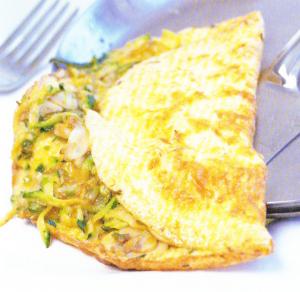Omelette aux courgettes & aux champignons