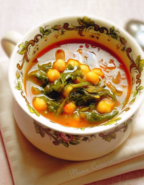 Recette soupe de pois chiches Lablabi tunisienne