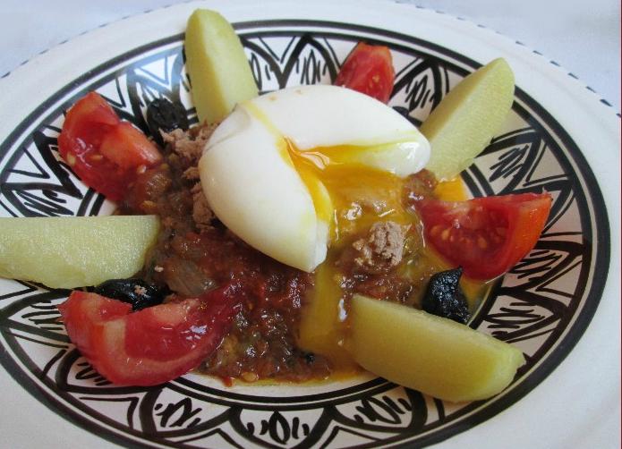 assiette tunisienne - Assiette tunisienne salade mechouia au thon