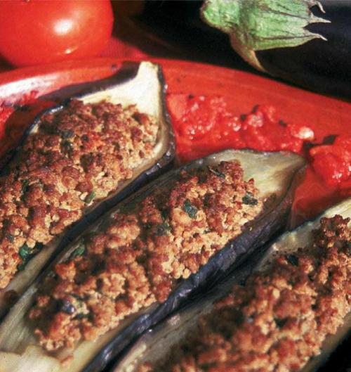 aubergines farcies 500x529 - Aubergines farcies (Mhamar)