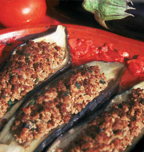 aubergines farcies - Aubergines farcies (Mhamar)