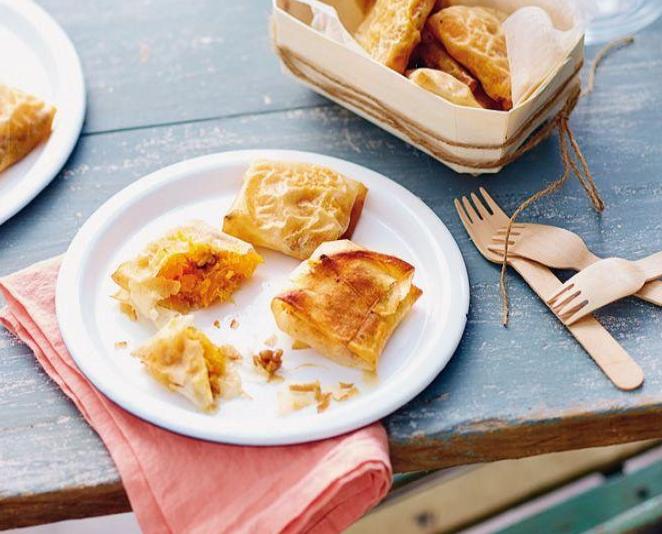 bouchees butternut noix - Bricks - Bouchées croustillantes de butternut aux noix
