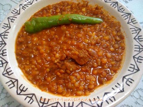 chorba lentille - Chorba de lentilles roses au bœuf
