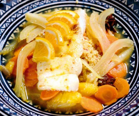 couscous cabillaud - Couscous de cabillaud à l'orange et à l'anis