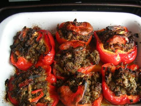 dola tomate - Dolma tomatich Tomates farcies de viande hachée