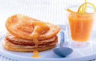 Pancakes au coulis d'orange
