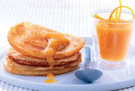 panacake coulis orange - Pancakes au coulis d'orange