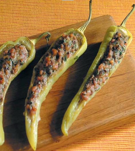 piments farcis - Piments farcis à la viande hachée