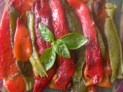 poivron huile olive - Poivrons à l'huile d'olive - Felfel b'zit el-zitoun