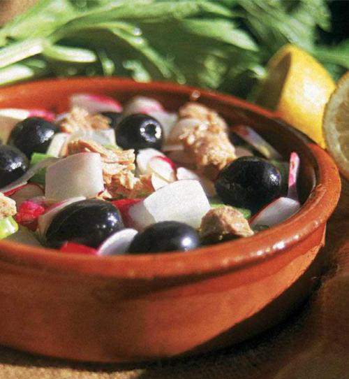 salade radis 500x542 - Salade de radis (Slatit fjiII)