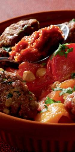 tajine keftas - Tajine aux keftas d'agneau pomme de terre potiron