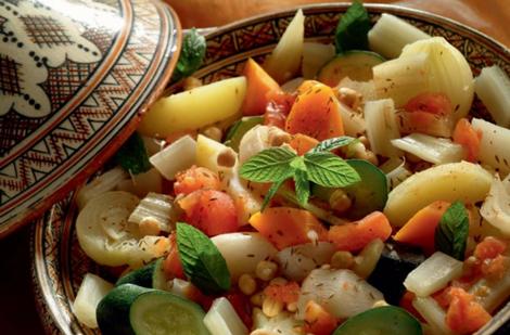 tajine legumes - Tajine aux sept légumes
