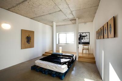 tete lit palette bois 4 - Tête de lit palette & cadre en bois, matériaux recyclés - Deco recup