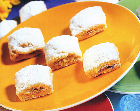 biscuits dattes - Carrés fourrés aux dattes