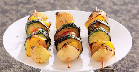 brochettes echalotes - Brochettes estivales aux échalotes - Cuisine au barbecue