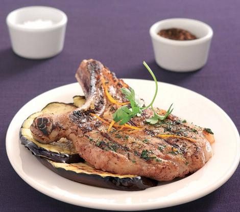 cotes de veau orange aubergines - Côtes de veau à l'orange et aux aubergines - Cuisine au barbecue