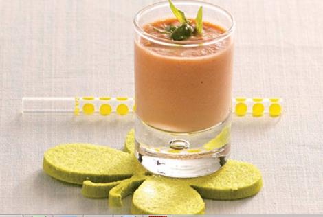 mousseux gaspacho - Mousseux de gaspacho tomate concombre et yaourt brassé