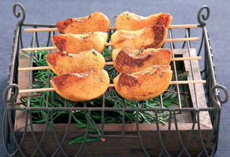 peches roties au miel - Pêches rôties au miel de lavande - Cuisine au barbecue