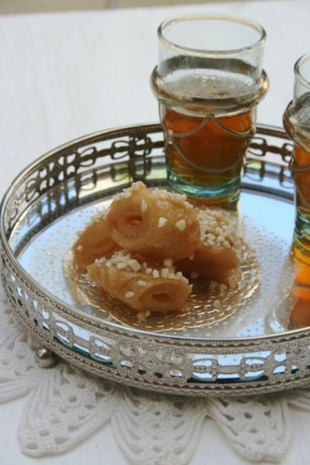 Rouleaux au miel et amandes