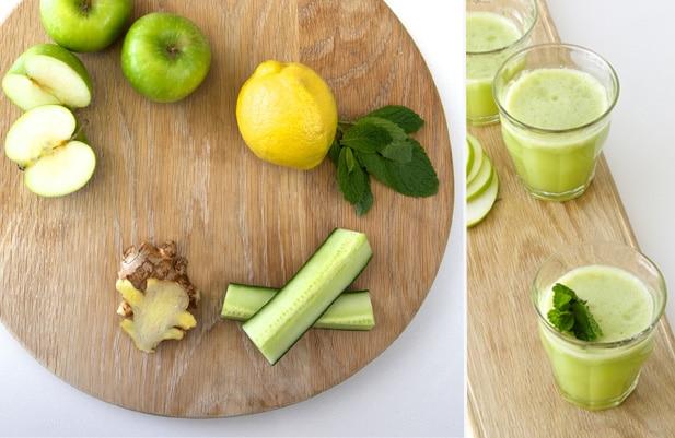Apple zinger ingredients - Jus de pommes et gingembre