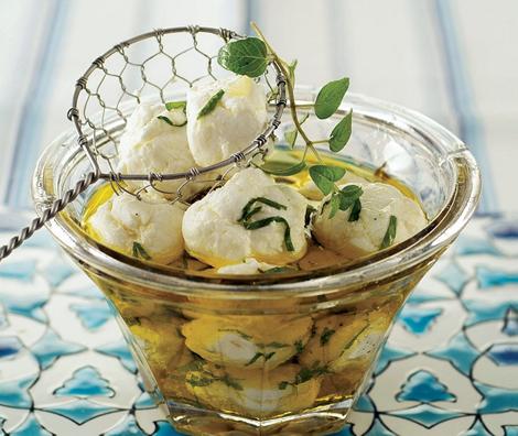 boulettes de labneh fromage - Boulettes de labneh à l'huile d'olive – Mezzés Bouchées Apéro