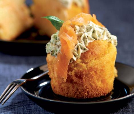 cupcakes saumon fume - Cupcakes au saumon fumé - Versions salées