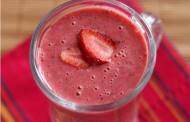 Le cocktail de fraise à la crème