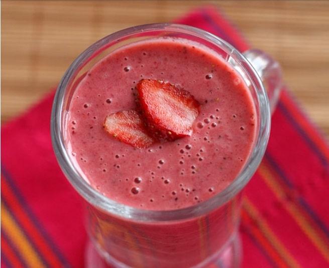 Le cocktail la fraise à la crème