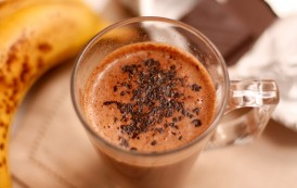 Le cocktail chaud de banane et chocolat