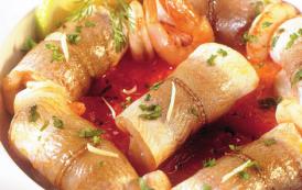 Paupiettes de merlan farcies aux crevettes façon tajine