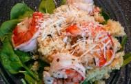 Couscous noix de pin avec crevettes à l'ail