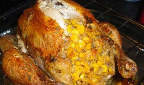 poulet farci e1438796776929 - Poulet farci au poivron et fromage
