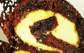Roulé au chocolat crème au citron