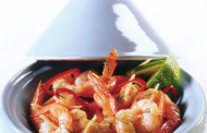 Tajine de crevettes à l'ail