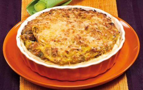 tarte poireaux sans gluten - Tarte aux poireaux au curry et sans gluten